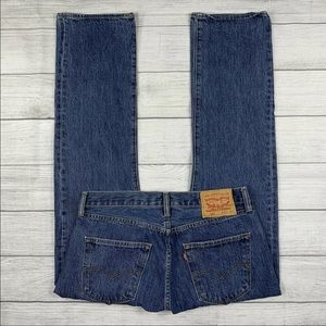 Levi's 501 XX Button Fly Straight Fit Denim Jeans
